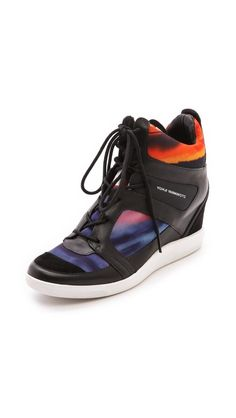 Yamamoto <3  Y-3 Sukita Wedge Sneakers