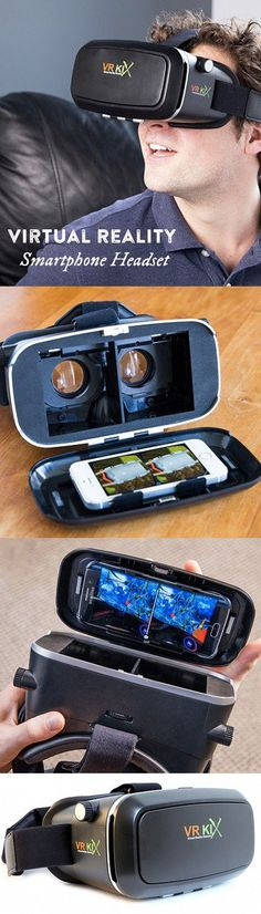 This virtual reality headset turns your smartphone into a virtual reality machine, making cutting edge technology affordable and accessible. #virtualrealitytechnology