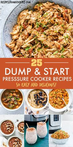 This awesome collection of tried and tested Dump and Start Instant Pot Recipes includes a variety of delicious and easy breakfasts, soups and stews, main dishes, side dishes and desserts. Just dump in the Instant Pot, press start and the magic pot will do Best Instant Pot Recipe, Instant Pot Dinner Recipes, Instant Recipes, Easy Healthy Recipes, Lunch Recipes, Ninja Recipes, Vegan Recipes, Main Dishes, Side Dishes