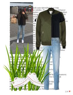 """""""Untitled #52"""" by roro-moon on Polyvore featuring Balmain, River Island, Canvas by Lands' End, J Brand and Converse"""