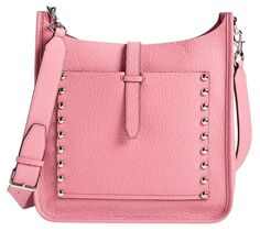 Get the trendiest Cross Body Bag of the season! The Rebecca Minkoff New Feed Guava Pink Leather Cross Body Bag is a top 10 member favorite on Tradesy. Rebecca Minkoff Feed Bag, Pink Leather, Soft Leather, Designer Handbags On Sale, Feed Bags, Vintage Bags, Bag Sale, Leather Crossbody Bag, Satchel