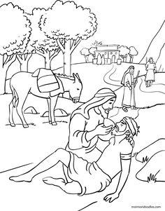 Mormon Doodles: The Good Samaritan Coloring Page