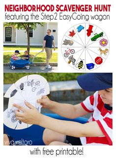Keep your kids entertained with a fun neighborhood scavenger hunt. We've got a FREE printable!