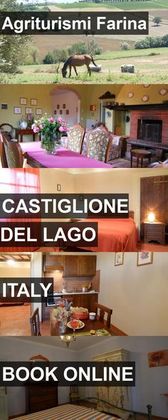 Hotel Agriturismi Farina in Castiglione del Lago, Italy. For more information, photos, reviews and best prices please follow the link. #Italy #CastiglionedelLago #hotel #travel #vacation