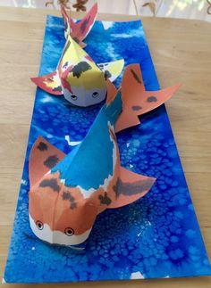 Kathy's AngelNik Designs & Art Project Ideas: 3D Japanese Koi Watercolor Art Project