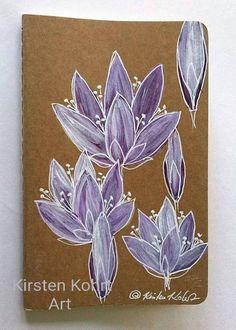 Notizhefte - NOTIZBUCH-DREAMNOTEBOOK LOTOS - KIRSTEN KOHRT ART - ein Designerstück von KIRSTEN-KOHRT-ART bei DaWanda