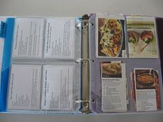 Meal Planning Made Easy...I want to make a binder like this with a board to go with it