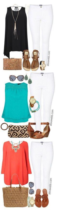 Plus Size White Jeans - Plus Size Outfit Idea - Plus Size Fashion - alexawebb.com