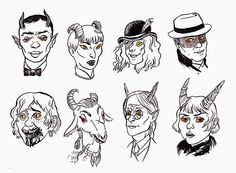 And one more indulgent Fallen London thing: some delightful devils from the Brass Embassy
