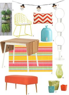 Fun, modern outdoor accessories, via Apartment Therapy.
