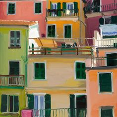"""low-country: """" Jan De Vliegher - Cinque terre 6 """" De Vliegher is using the photographic imagery as a starting point in his work. Cinque Terre, Building Drawing, Dutch Artists, Dream Art, Sketch Painting, Figurative Art, Lovers Art, Painting Inspiration, Impressionism"""