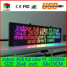 26X8 inch P5 indoor  full color LED display scrolling text Red  green  blue white yellow and blue orange LED open sign billboard #Affiliate