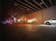 """Cai Guo-Qiang, """"Inopportune: Stage One"""" (2004). View of 2004 installation at MASS MoCA"""