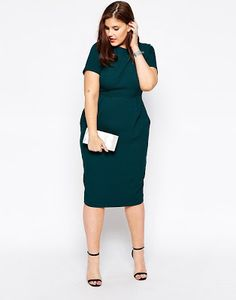 Browse online for the newest ASOS CURVE Midi Wiggle Dress in Texture styles. Shop easier with ASOS' multiple payments and return options (Ts&Cs apply). Tall Girl Fashion, Curvy Fashion, Plus Size Fashion, Plus Size Dresses, Plus Size Outfits, Dresses For Work, Plus Size Womens Clothing, Clothes For Women, Asos Curve Dresses