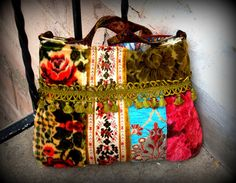 carpet bag deluxe,  bohemian  purse