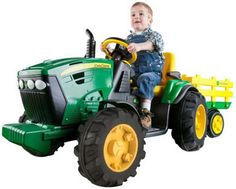 Top Kids Electric Tractor Of The Year Peg Perego John Deere Ground Force Tractor With Trailer