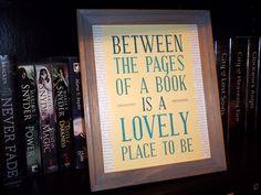 framed quotes for my bookshelf