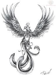 Phoenix option for my back. Not sure if I want color or not. Seems like they look better with, but my other tattoos are all black and gray so it might look stupid with one in color. IDK. http://pinterest.com/treypeezy