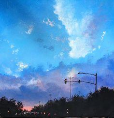 HELLO EVENING Original art painting by Gerald Schwartz - DailyPainters.com