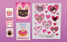 Baking up sweet CC treats! - I Like CATS! Poster Set Another art set from cute...