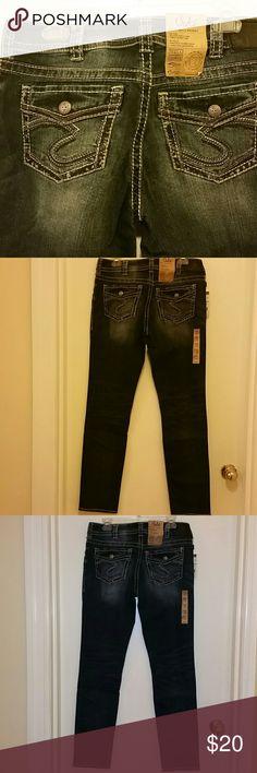 Silver Jeans Ladies Suki Mid Pencil Jeans Curvy fit Suki Mid Ris Pencil Leg 31 x 31 Silver Jeans Jeans Skinny