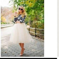 BEAUTIFUL TULLE SKIRT! Tulle Skirt Available In 4 Colors! Skirts
