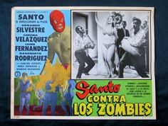 """SANTO VS LOS ZOMBIES"" LORENA VELAZQUEZ N MINT HORROR LOBBY CARD PHOTO 1961 in Entertainment Memorabilia, Movie Memorabilia, Lobby Cards, Originals-United States, 1960-69   eBay"