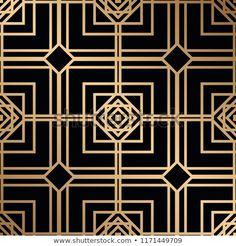 Vintage Art Deco Seamless Pattern. Geometric decorative texture Art Deco Fashion, Vintage Art, Frames, Illustrations, Texture, Patterns, Logos, Cards, Image