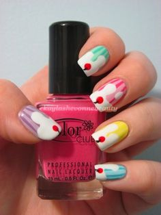 Ice Cream Sundaes  (Check out my blog for more nail art!)