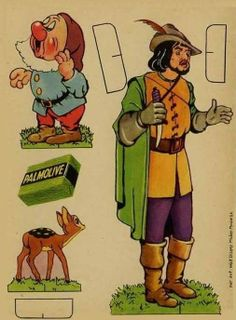 Snow White and the Seven Dwarfs offered in the fifties by Palmolive.