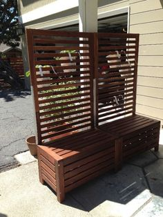 Nice! Applaro free-standing bench and trellis hack (IKEA Hackers)