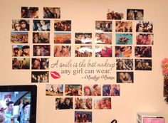 Photo heart with Marilyn Monroe wall decal :) love it!!