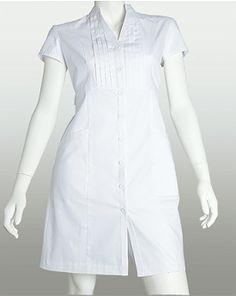 Prima Whites 2 PKT PINTUCK DRESS (Medical Scrubs) 7801
