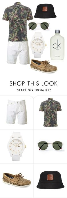 """""""D.2"""" by hannahjerao on Polyvore featuring Levi's, Lacoste, Topman, Sperry, adidas Originals, Calvin Klein, men's fashion and menswear"""