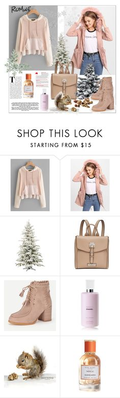 """""""Romwe.Raglan Sleeve Staggered Raw Edge Hoodie"""" by natalyapril1976 on Polyvore featuring Mode, Andrew Marc, Chanel und Henri Bendel"""