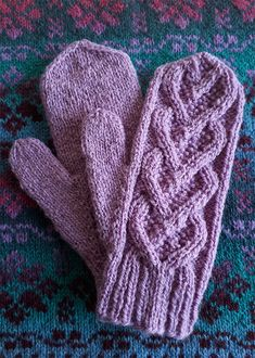 Ravelry: Bellevue Mittens pattern by Elizabeth McCarten free pattern Knitted Mittens Pattern, Cable Knitting Patterns, Knit Mittens, Knitted Gloves, Double Knitting, Knitting Yarn, Free Knitting, Crochet Patterns, Knitting Tutorials