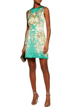 Shop on-sale Roberto Cavalli Printed satin mini dress. Browse other discount designer Dresses & more on The Most Fashionable Fashion Outlet, THE OUTNET.COM