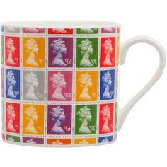 Coloured Stamp Print Mug