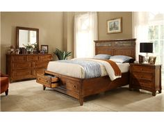 Shop for Riverside 4/6-5/0 Panel Headboard, 2974, and other Bedroom Beds at Tyndall Furniture Galleries, INC in Charlotte, North Carolina. Features slate tile inlays across top. Queen Panel Bed: (2974-2975-2972): Fully assembled size: 66 3/4'' wide x 87 1/4'' deep x 58'' high.
