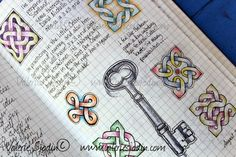 How to draw Celtic knots... from a beautiful visual journaling site. Art by Valerie Sjodin of Visual Blessings: http://visualblessings.blogspot.com/