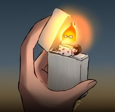 """Oh my god. Imagine Sans with a lighter, and it's Grillby. Grillby then says """"Sans, pay your GD TAB."""""""