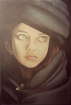 "Pastel drawing  ""Girl"" copy Asmani Maria"