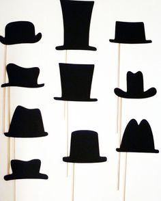 Items similar to DIY 10 Hats on a stick Photo Booth Props - Party Props - Mustache Moustache Bash - Little Man - Gender Reveal Birthday - Bash on Etsy Diy Party Props, Moustache Party, Stick Photo, Wedding Photo Booth Props, Photos Booth, Diy Hat, Partys, Birthday Diy, Little Man