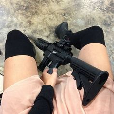 ♡ On Pinterest @ kitkatlovekesha ♡ ♡ Pin: Weapons ~ Black Assault Rifle ♡