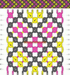 Chevron diamonds friendship bracelet pattern number #3058- For more patterns and tutorials visit our web or the app!