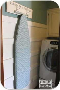 laundry room - iron board storage
