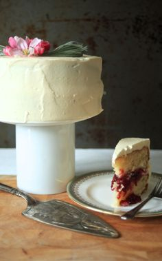 an expression of love | lavender raspberry cream cake