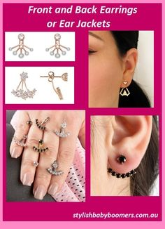 Want something different as an earring? Consider ear jackets. Read my comments on them at http://stylishbabyboomers.com.au/front-back-earrings/. #earjackets