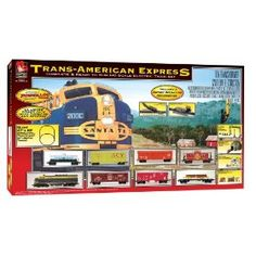 Life-Like Trains HO Scale Trans-American Express Electric Train Set $119.79 #trains #trainset