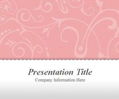 If you need an elegant PowerPoint template for your fashion PowerPoint presentations then this free vintage template with floral pink style can be a good pick